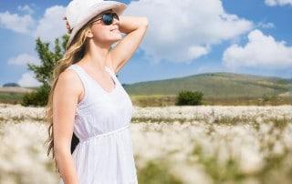 Young woman enjoying the fresh air